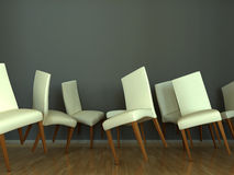 Interior scene dancing chairs Stock Photography