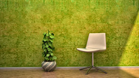 Interior scene design house chair flowers royalty free stock image