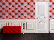 Interior scene with a door Royalty Free Stock Photo