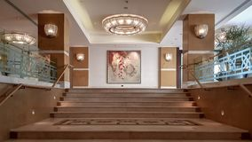 Interior scene from Four Seasons Hotel in Ortakoy Istanbul stock photography