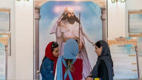 Free Interior Scene From Ateshkadeh Zoroastrian Fire Temple Where 3 Iranian Girls Are Talking, Yazd, Iran Royalty Free Stock Photos - 164660178