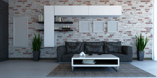 Interior scene living room Stock Photo
