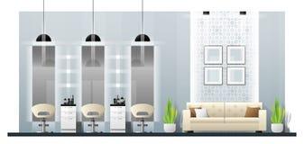 Interior scene of modern beauty salon stock illustration