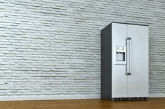 Interior scene with refrigerator Stock Photos