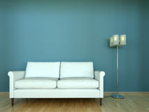Interior scene sofa with lamp Royalty Free Stock Images