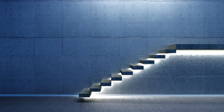 Interior scene with stair. Abstract interior scene with stair and lights royalty free illustration