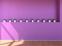 Interior scene in violet colours Royalty Free Stock Images