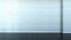 Interior scene with wall from bricks. 3d Interior scene with wall from bricks Royalty Free Stock Image