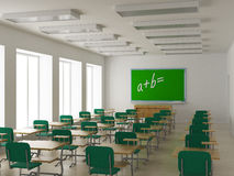Interior of a school class.