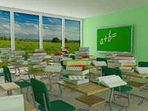 Interior of a school class. Royalty Free Stock Photo
