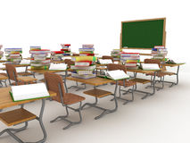 Interior of a school class. Royalty Free Stock Image
