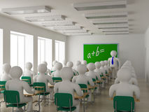 Interior of a school class. 3D image vector illustration