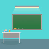Interior of a school class. Vector. Back to school. Royalty Free Stock Image