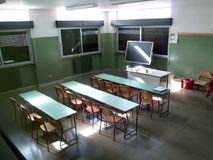 Interior of school: classroom Royalty Free Stock Photos