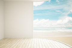 Interior sea view Royalty Free Stock Image