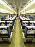 Interior seat of Japan train Royalty Free Stock Photos