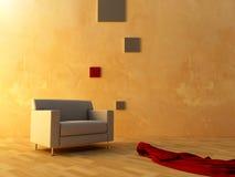 Interior - Seat and red velvet Stock Photo
