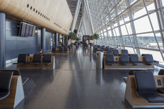Interior Seating Area of Kloten Airport in Zurich, Switzerland. ZÜRICH-FLUGHAFEN, SWITZERLAND - JANUARY 12, 2016 - Zürich Airport, also known as Kloten Airport Royalty Free Stock Images