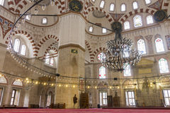 The interior of the Sehzade Mosque in Istanbul. The interior of the Sehzade Mosque on the third hill of Istanbul, Turkey. It was commissioned by Süleyman the Stock Photography