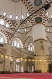 The interior of the Sehzade Mosque in Istanbul Stock Image