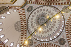 The interior of the Sehzade Mosque in Istanbul Royalty Free Stock Image