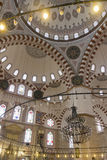 The interior of the Sehzade Mosque in Istanbul Royalty Free Stock Photography