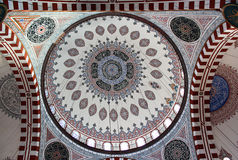 Interior of Sehzade Prince Mosque, Istanbul, Turkey Royalty Free Stock Photos