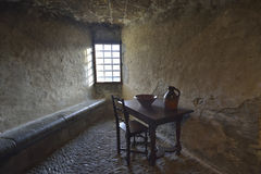 Interior of self cleaning area from Gruyeres Castle Stock Photography