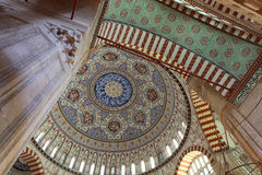 Interior of Selimiye Mosque, Edirne. Royalty Free Stock Image