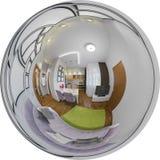 Interior sem emenda da sala de visitas do panorama da ilustração Fotografia de Stock