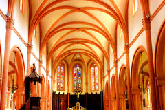 Interior of the senones church in senones france Stock Photo