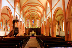 Interior of the senones church in senones france Stock Photos
