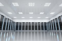 Interior server room Royalty Free Stock Image