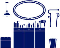 Interior set of bathroom icon Royalty Free Stock Images