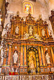 Interior of Seville Cathedral Royalty Free Stock Images