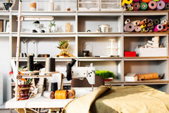 Interior of sewing workshop Stock Photography