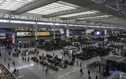 Interior of Shanghai Hongqiao Transport Hub Royalty Free Stock Images