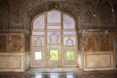 Interior Sheesh Mahal (Palace of Mirrors). An ancient interior decorations in Sheesh Mahal (Palace of Mirrors) - Lahore Fort - Pakistan Stock Photography