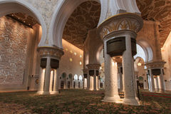 Interior of the Sheikh Zayed Grand Mosque in Abu Dhabi (UAE) Royalty Free Stock Photo