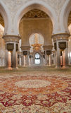 Interior of Sheikh Zayed Mosque Stock Photos