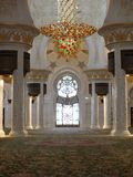 Interior of Sheikh Zayed mosque in Abu-Dhabi. Stock Photo