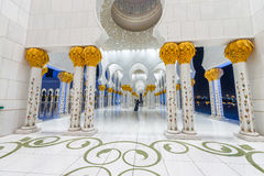 Interior of Sheikh Zayed Mosque in Abu Dhabi - UAE Stock Photos