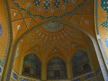 Interior SheikhLoftah Mosque. Interior: windows and ceiling in Skeikh Loftah Mosque, Esfahan Stock Photos