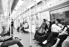 Interior of shenzhen metro Stock Image