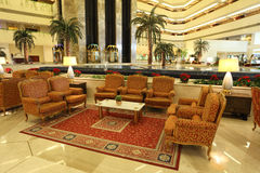 Interior of the Sheraton Hotel, Doha Stock Photos