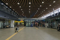 Interior of Shin-Hakodate-Hokuto station. Royalty Free Stock Images