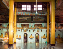 Interior of the Shite-thaung Temple in Mrauk-U, Myanmar Royalty Free Stock Photography