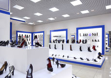 Interior of shoe shop Stock Image