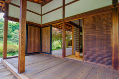 Interior of the Shofuso Japanese tea house Stock Photo