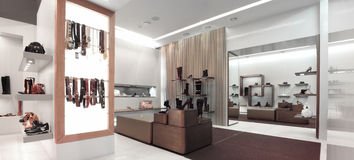 Interior of a shop. Interior of a shoe shop Royalty Free Stock Images